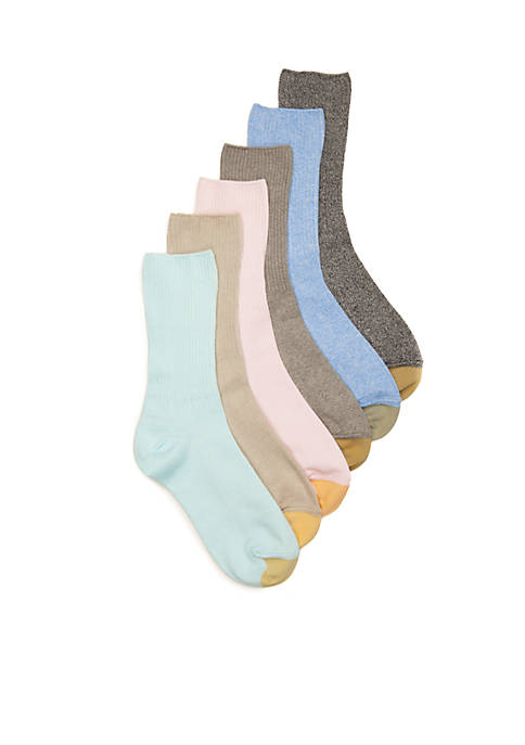 Gold Toe® Turn Cuff Socks- 6 pack