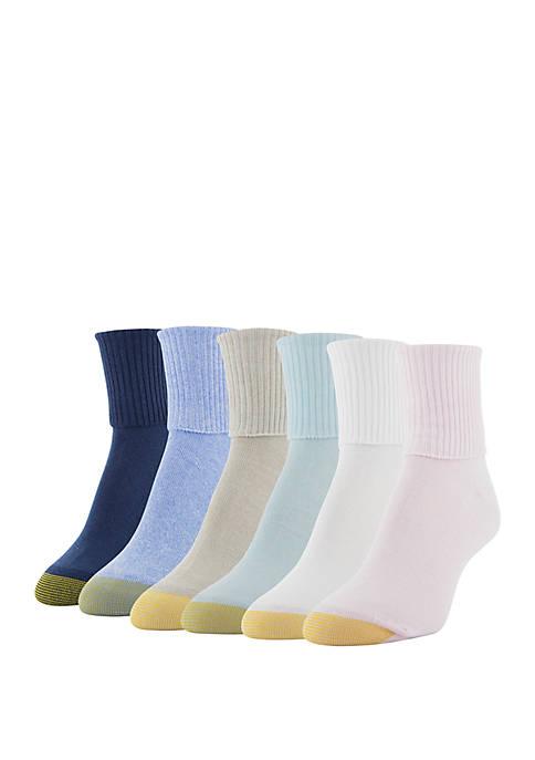 Turn Cuff 6 Pair Sock Set