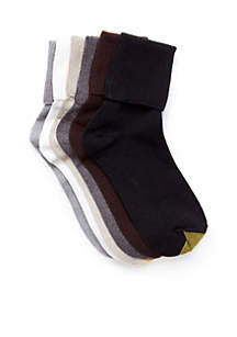 Turn Cuff Socks - 6 Pack