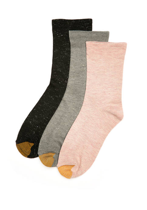 Sparkle Flat Knit Socks Pack