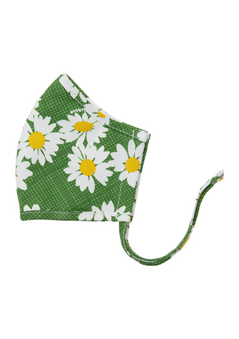 Adult Dottie Daisy Green Face Mask