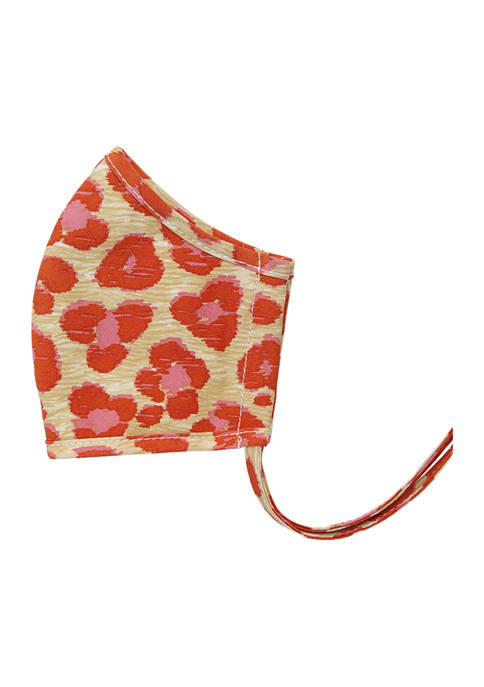 Adult Leopard Hearts Apricot Face Mask