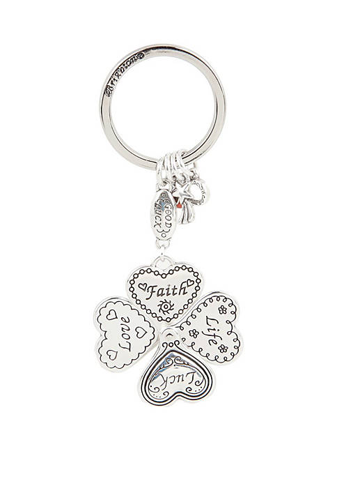 Brighton® Lucky Clover Heart Key Fob