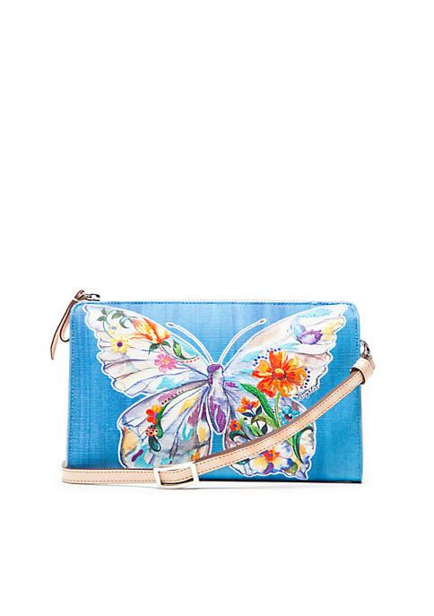 Belle Jardin Flutter Embroidery Pouch