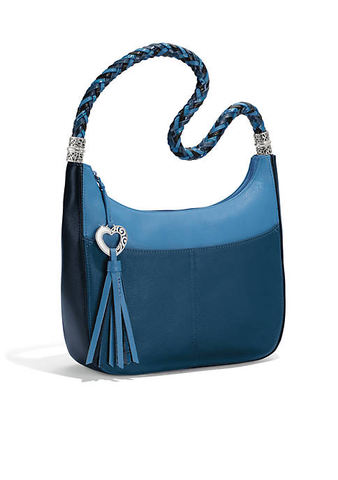 Brighton Barbados Bloc Zip Top Hobo Bag