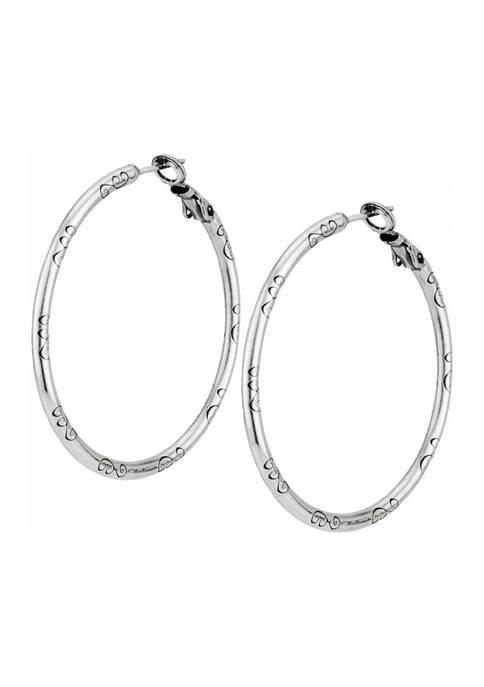 Large Earring Charm Hoops