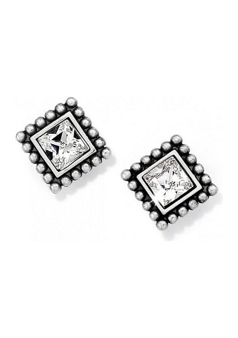 Sparkle Square Mini Post Earrings