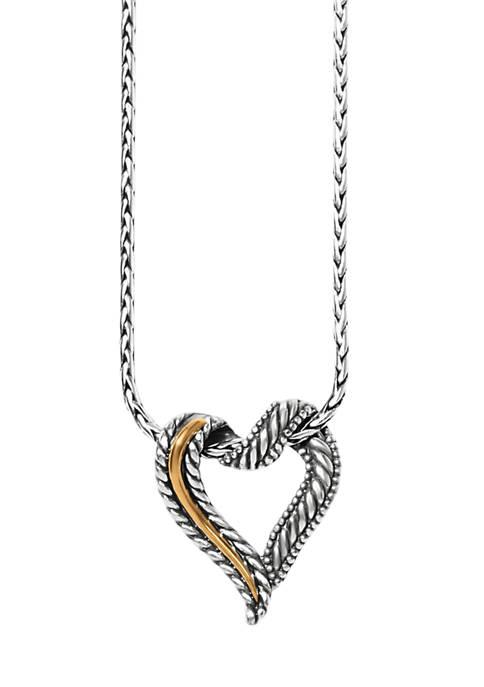 Brighton® Callie 2-Tone Heart Necklace