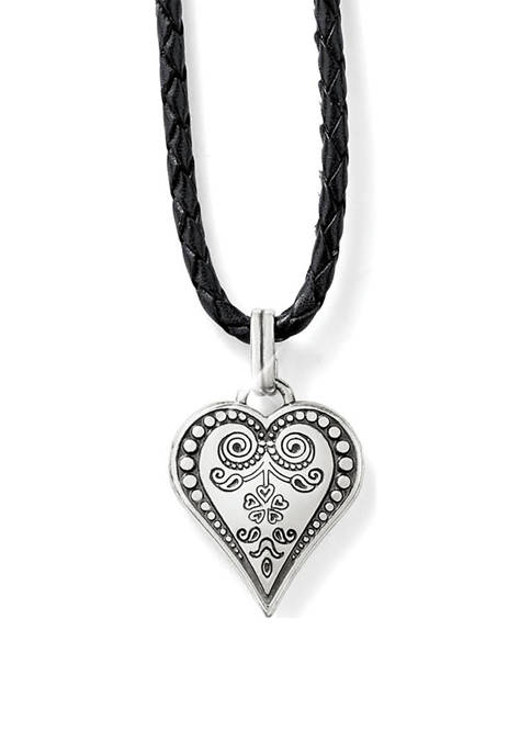 Brighton® Ophelia Heart Leather Necklace