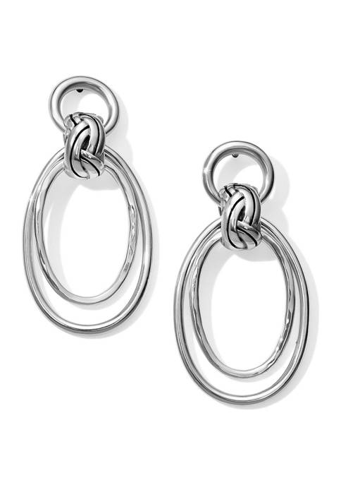 Interlok Rings Post Drop Earrings