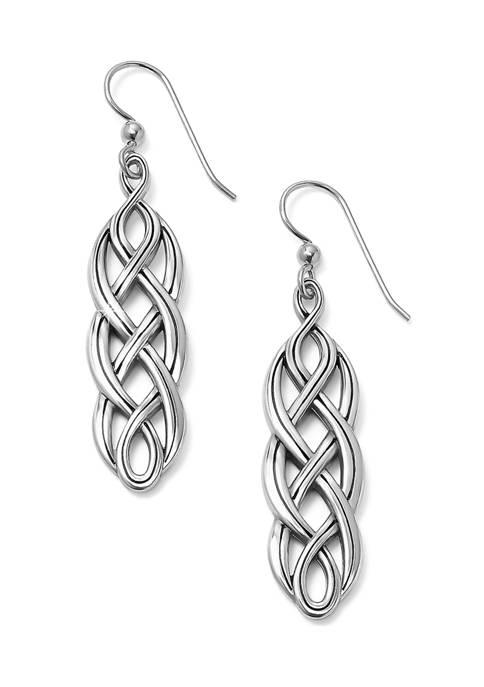 Interlok Braid French Wire Earrings