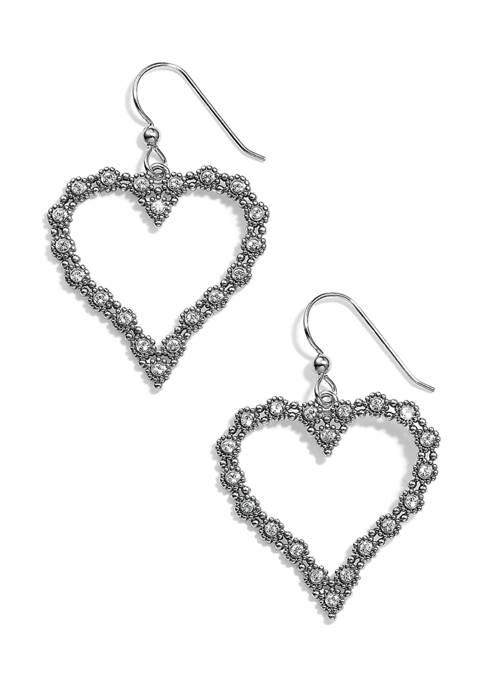 Brighton® Twinkle Splendor Heart French Wire Earrings