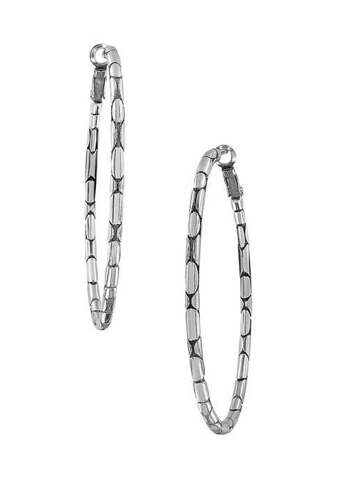 Pebble Large Oval Hoop Earrings