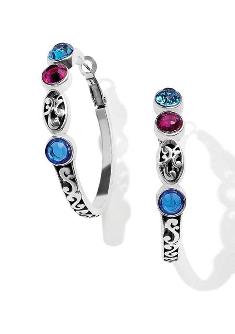 Elora Gems Vitrail Hoop Earrings