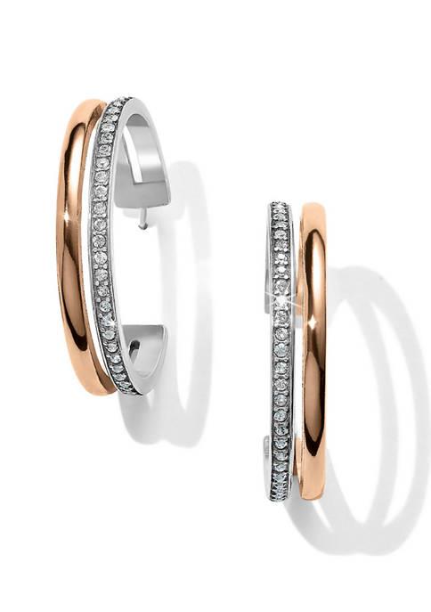 Neptunes Rings Duo Large Hoop Earrings