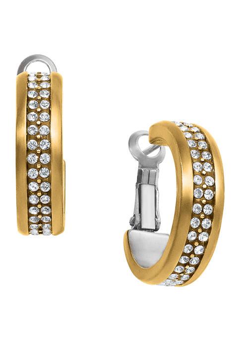 Meridian Two Tone Hoop Earrings