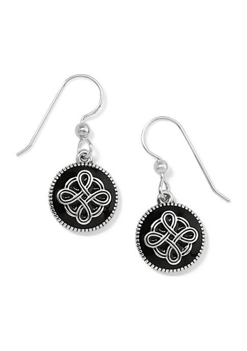 Interlok Noir French Wire Earrings