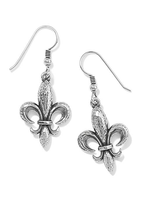 Ferrara Fleur De Lis French Wire Earrings