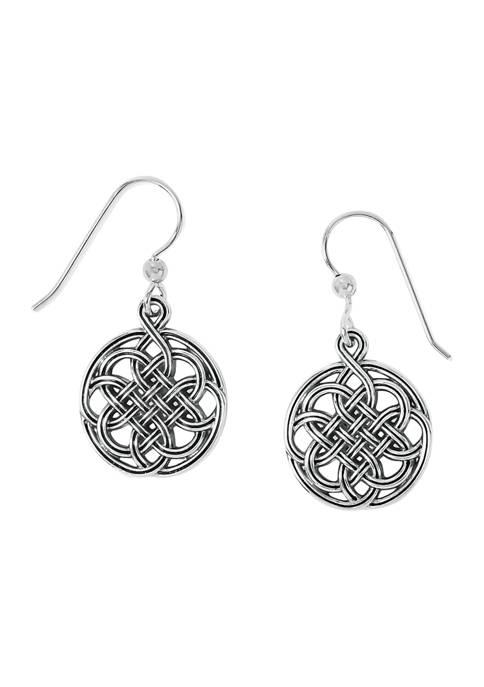 Interlok Medallion French Wire Earrings