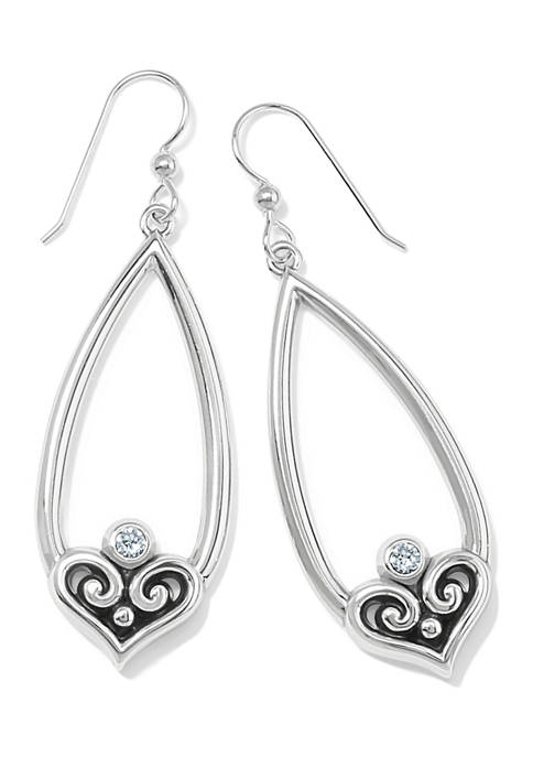BRIGHTON Alcazar Heart Teardrop French Wire Earrings
