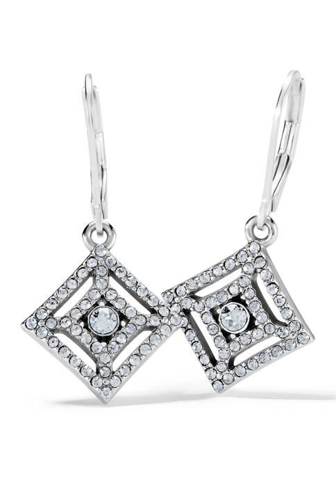 Illumina Crystal Lever Back Earrings