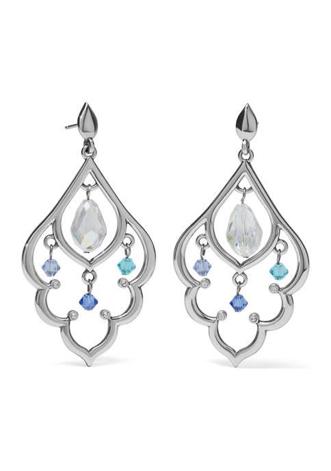 Prism Lights Scallop Post Drop Earrings