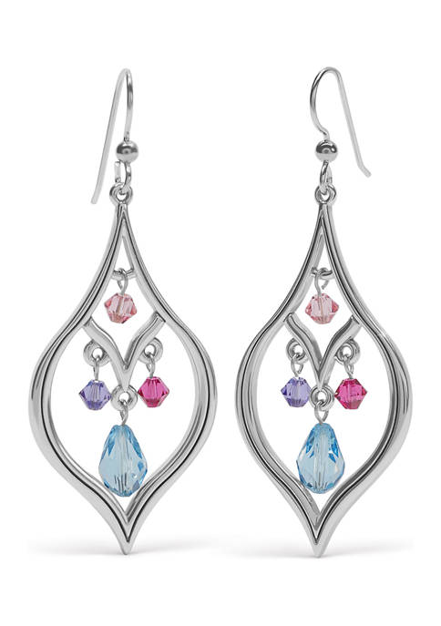 Prism Lights Drops French Wire Earrings