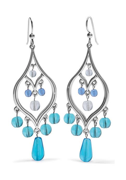 Prism Lights Teardrop French Wire Earrings