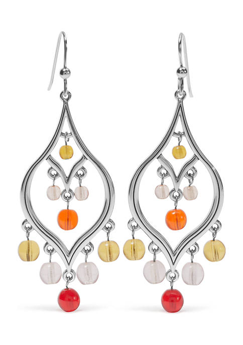 Prism Lights Fire French Wire Earrings