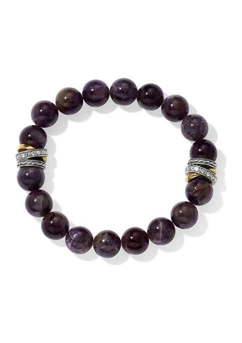 Neptunes Rings Amethyst Stretch Bracelet