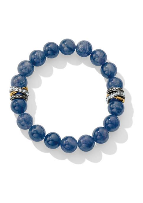 Brighton® Neptunes Rings Brazil Blue Quartz Stretch Bracelet
