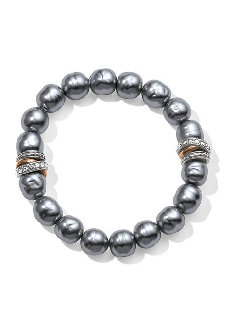 Brighton® Neptunes Rings Gray Pearl Stretch Bracelet