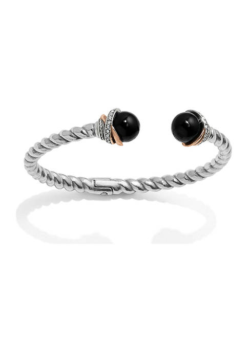 Brighton® Neptunes Rings Black Agate Open Hinged Bangle