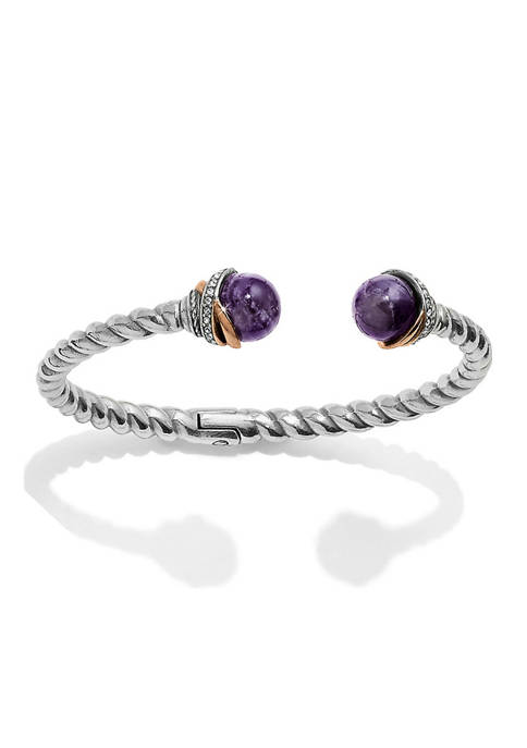 Brighton® Neptunes Rings Amethyst Open Hinged Bangle