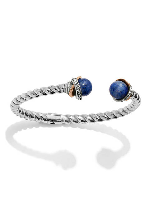 Brighton® Neptunes Rings Brazil Blue Quartz Open Hinged