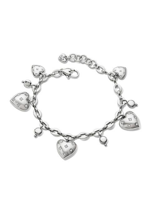 Stellar Heart Charm Bracelet