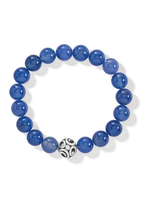 Contempo Chroma Blue Agate Stretch Bracelet