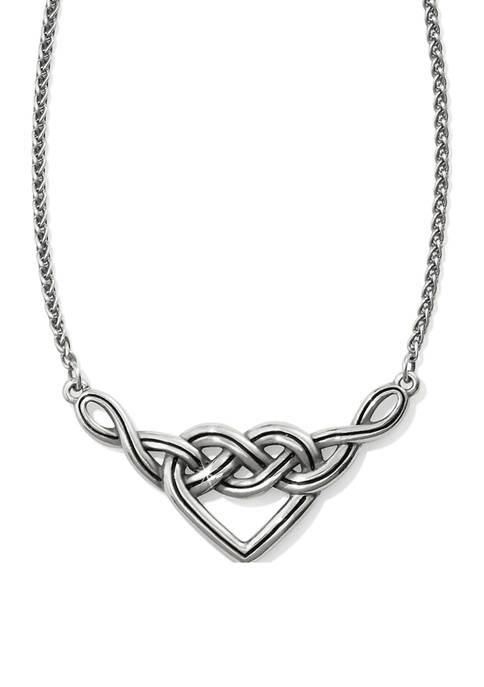 Interlok V Heart Necklace