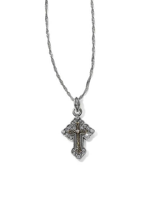 Brighton® Greek Petite Cross Necklace