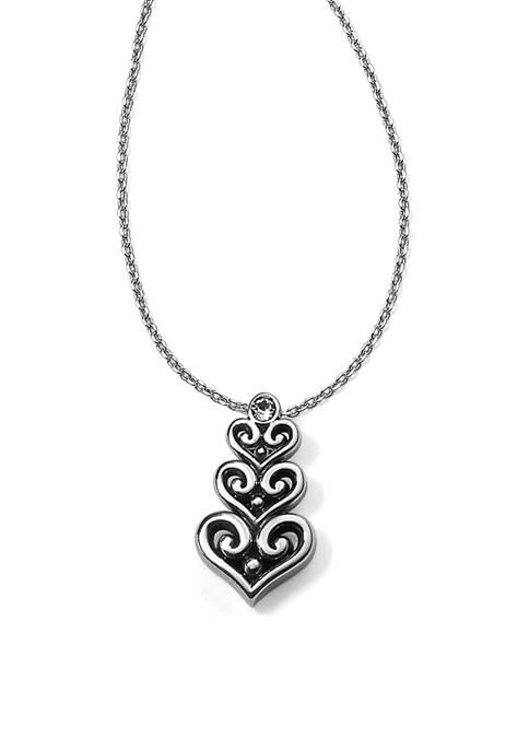 Alcazar Heart Trio Short Necklace