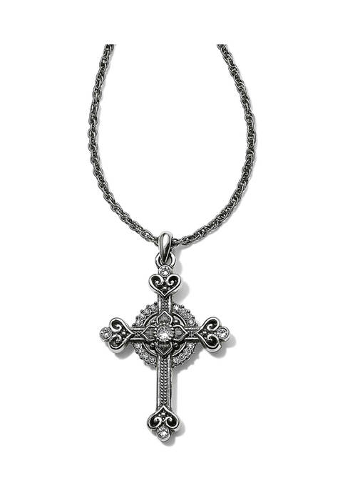 Brighton® Alcazar Heart Small Cross Necklace