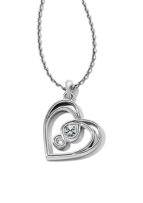 Brighton® Infinity Sparkle Petite Heart Necklace