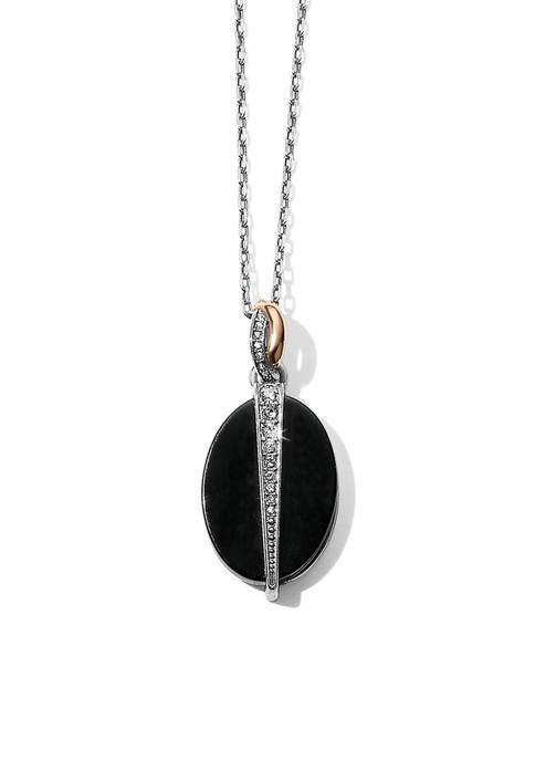 Brighton® Neptunes Rings Oval Black Agate Reversible Short