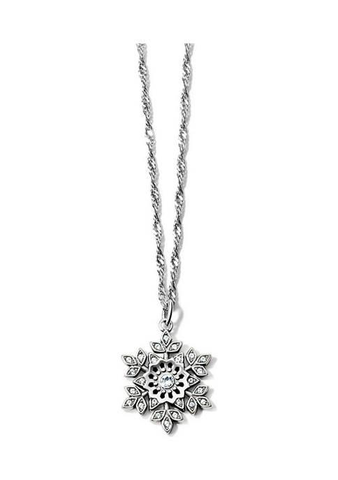 Glint Snowflake Necklace