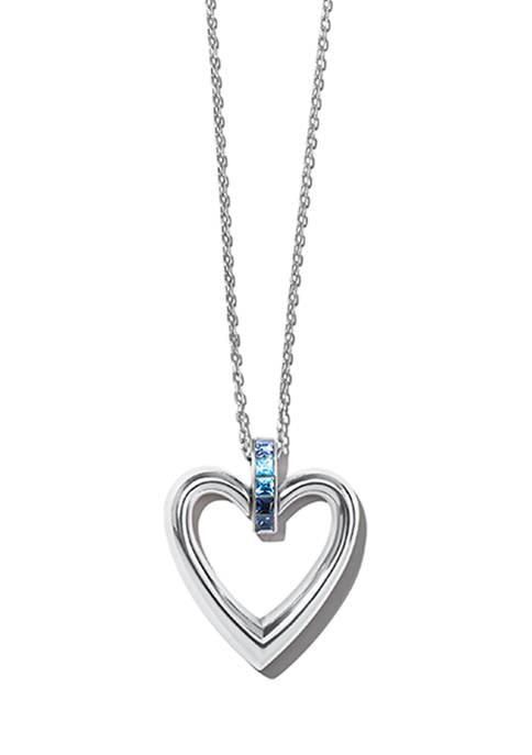 Spectrum Open Heart Necklace