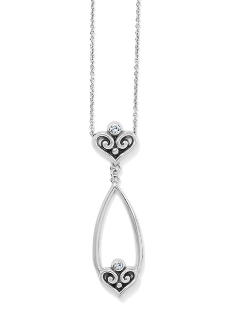 Alcazar Heart Teardrop Necklace