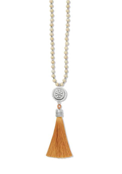 Marrakesh Neutral Tassel Necklace