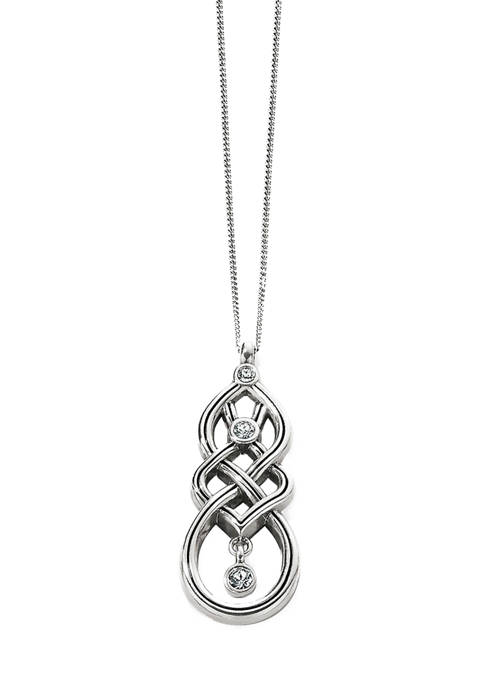 Brighton® Interlok Cascade Pendant Necklace in Sterling Silver