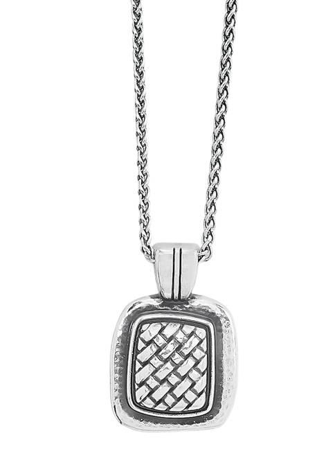 Brighton® Ferrara Artisan Square Pendant Necklace in Sterling