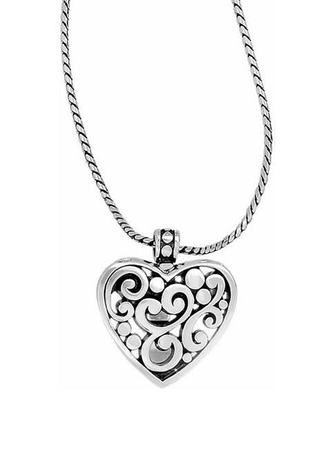 Brighton® Contempo Heart Badge Clip Necklace